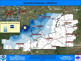 Evansville In Zip Code Map by Snowfall And Precipitation Amounts From February 23 24 2016