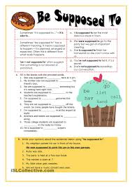 be supposed to worksheet free esl printable worksheets made by