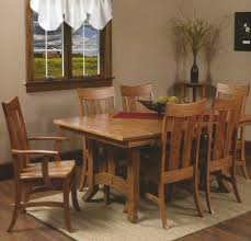 amish dining room table plans amish olde century mission trestle