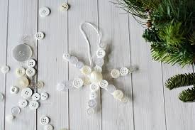 popsicle stick button snowflake tree ornament