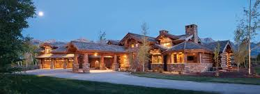 one story mansions handcrafted log homes precisioncraft
