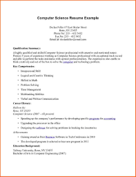 Sample Resume Computer Science by Sample Resume For Computer Science Graduate Free Resume Example