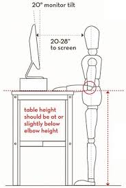 Desk Height Ergonomics Standing Desk Ergonomics Modern Home Design