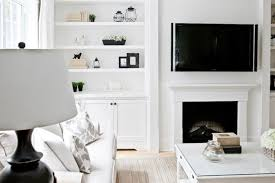 Fireplaces With Bookshelves by Lux Decor Beautiful Monochromatic Living Room With White Built In