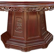 60 in rosewood dragon and phoenix mother pearl inlay round dining