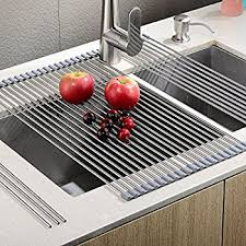 Amazoncom Surpahs Over The Sink Multipurpose RollUp Dish - Kitchen sink drying rack