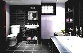 Black White Grey Bathroom Ideas by Home Design Ideas Tile Shower And Bathroom With Flower Accent