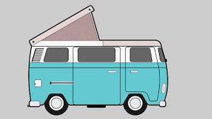 hippie volkswagen drawing speed drawing illustrator camper vw t1 flat icon youtube