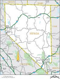 nevada road map nevada map