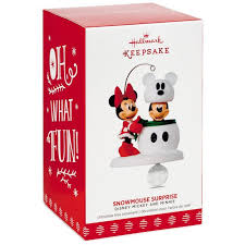 disney mickey and minnie snowmouse ornament keepsake