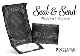 Seal And Send Wedding Invitations Cheap And Chic Wedding Invitations By Ann U0027s Bridal Bargains