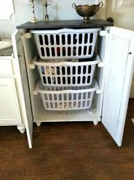 pull out baskets for bathroom cabinets basket storage ideas smart girls diy room pinterest bathroom