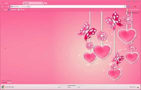 pink butterfly ornament chrome theme chromeposta