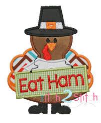 Thanksgiving Appliques Turkey Applique