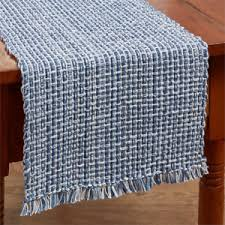 Navy Table L Park Designs Tweed Denim 54 L Table Runner Navy Blue White