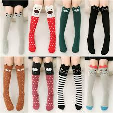 cute stockings cartoon 3d fox stockings winter warm girl children elegant long knit