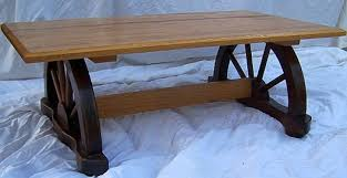 Wagon Wheel Coffee Table Antique Furniture Dyer U0027s Auction Service Llc