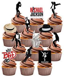 michael cake toppers michael jackson themed fully edible birthday cup cake