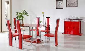 Chairs Inspiring Red Leather Dining Room Chairs Red Upholstered - Red dining room chairs