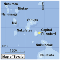 map of tuvalu about tuvalu