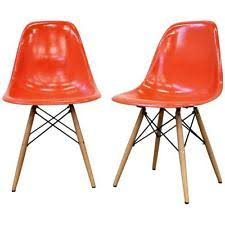 eames orange chair ebay