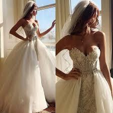 aliexpress com buy 2 piece detachable skirt wedding dress 2016