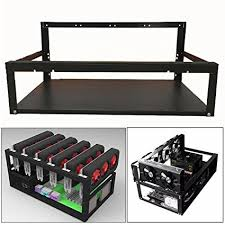 how to open a miner s l amazon com open air miner mining frame rig case up to 6 gpu btc ltc