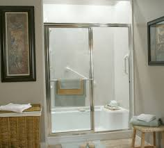 Small Bathroom Stools Bathroom Cozy Walk In Shower Kits With Glass Shower Door And Rain