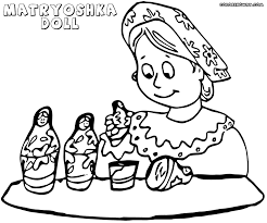 matryoshka doll coloring pages coloring pages to download and print