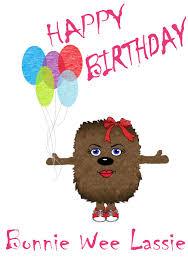 happy birthday bonnie wee lass scottish greetings card stuff to