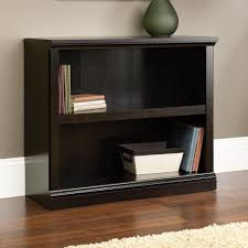 Sauder White Bookcase by Sauder Select Estate Black 2 Shelf Bookcase 414237
