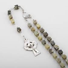 connemara marble rosary connemara marble celtic cross square nickle rosary ebay
