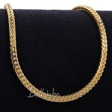 gold braided necklace images 3mm 49 2cm mens chain womens necklace yellow gold filled braided jpg
