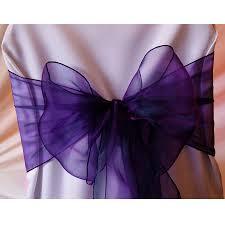 purple chair sashes organza cadbury purple wedding banquet chair sash bow sashes