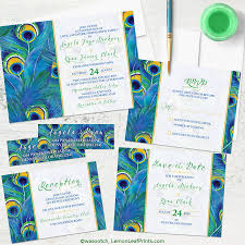 Wedding Stationery Sets Party Simplicity Peacock Wedding Invitation Sets Party Simplicity
