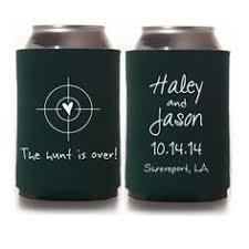 wedding can koozies fall wedding favors for guests let brew personalized can