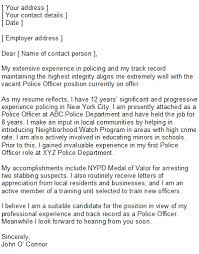 law enforcement cover letter sample