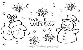 free preschool winter coloring pages snowman print for kids