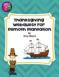 plimoth plymouth plantation webquest thanksgiving tpt