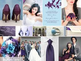 purple and blue wedding a wedding to remember a palette of plum powder blue gray