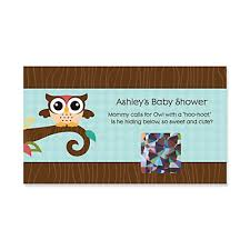 baby shower scratch owl look whooo s a baby personalized baby shower