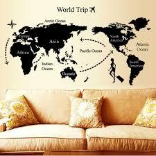 World Map Stencil by Online Get Cheap World Map Trip Wall Sticker Aliexpress Com
