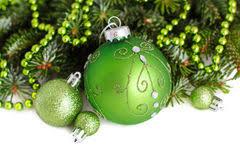 green ornaments border royalty free stock photos image