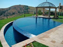 beautiful tile design swimming pool using ornate pattern for small