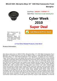 subwoofers on sale black friday cyber week deals mojo10 d4 memphis mojo 10 1000 watt subwoofer f u2026