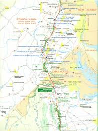 Pennsylvania Map Cities by Official Appalachian Trail Maps
