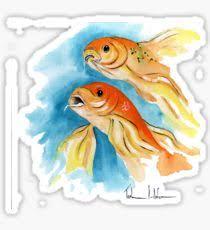 butterfly koi design illustration stickers redbubble