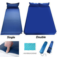 camping air mattresses with pillow head rest ebay