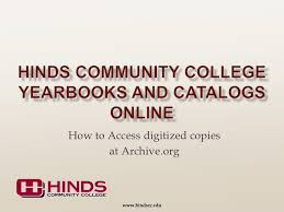 find yearbooks online hinds community college on how to find yearbooks on arch