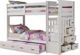 Bunk Bed With Trundle And Drawers White Bunk Beds With Storage Definitely Bunk Beds With Loft